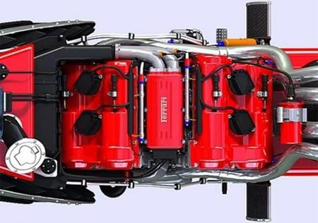 El concepto  de moto Ferrari V4