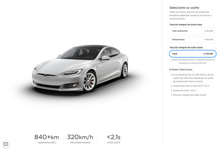 Configurador Tesla Model S Plaid