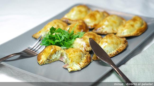 Empanadillas carbonara - presentación
