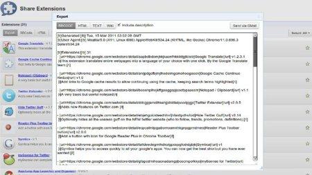 Obtén una lista de las extensiones que usas en Chrome y compártela fácilmente