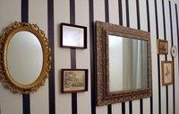 Una buena idea: paredes a rayas para apartamentos de alquiler