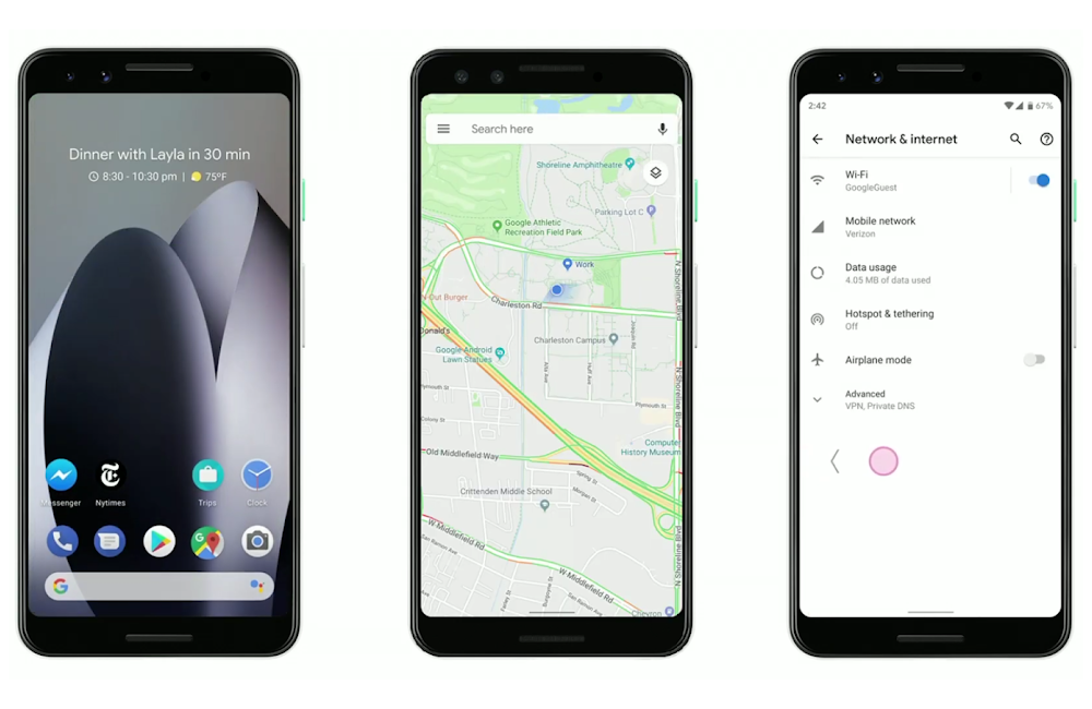 Android-Q will offer the new navigation gestures, and the classic three-buttons
