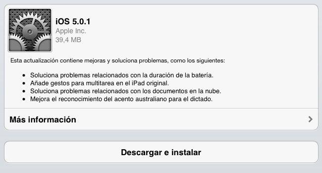 iOS 5.0.1 OTA Update