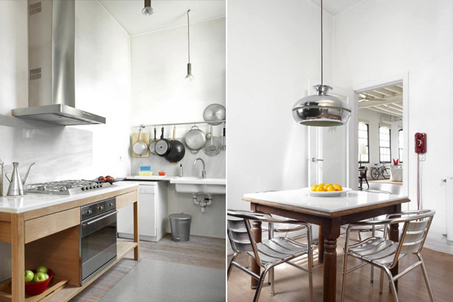 Cocina loft industrial