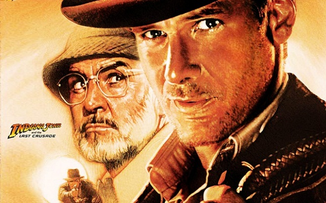 Imagen con el cartel de 'Indiana Jones y la última cruzada'