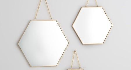 Lote de 3 espejos decorativos en distintos tamaños por 17,99 euros en La Redoute