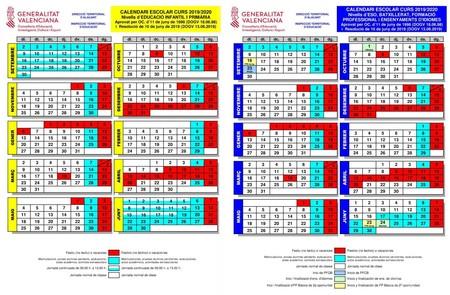 Calendario Escolar Alicante 2019 2020