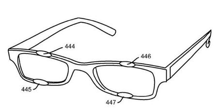 Patente sobre zonas de interacción en monturas de gafas