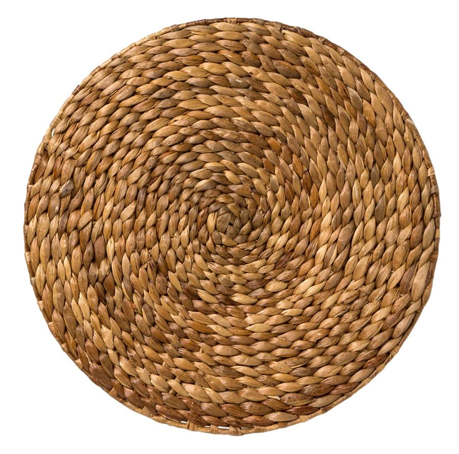 Mantel individual redondo de fibra natural Jacinto El Corte Inglés