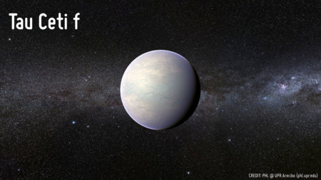Exoplanet Tau Ceti F Phl