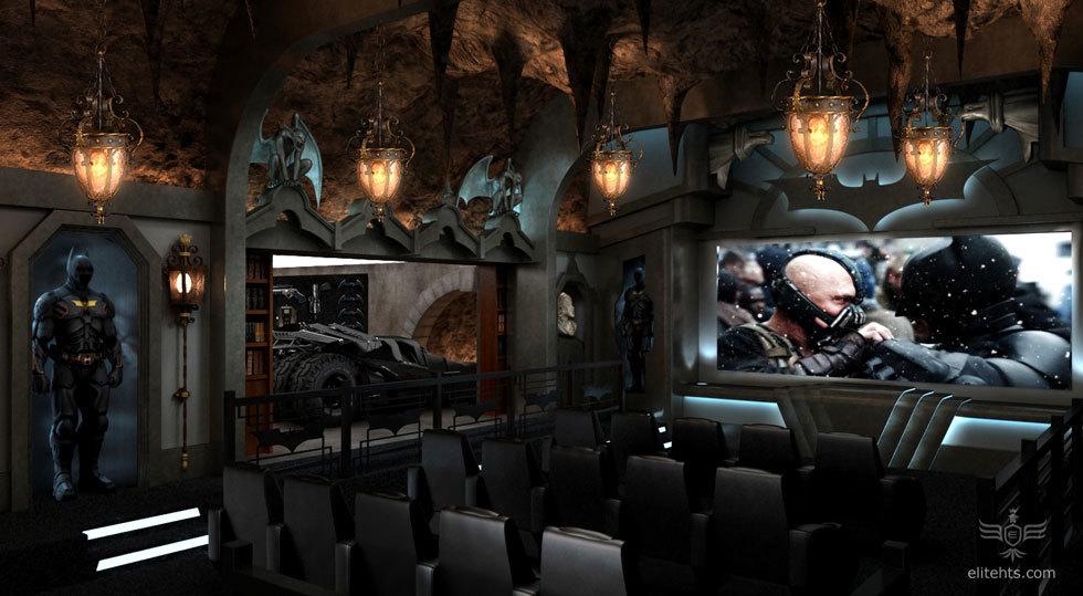 Foto de Salas de cine en casa espectaculares: la batcueva (2/4)