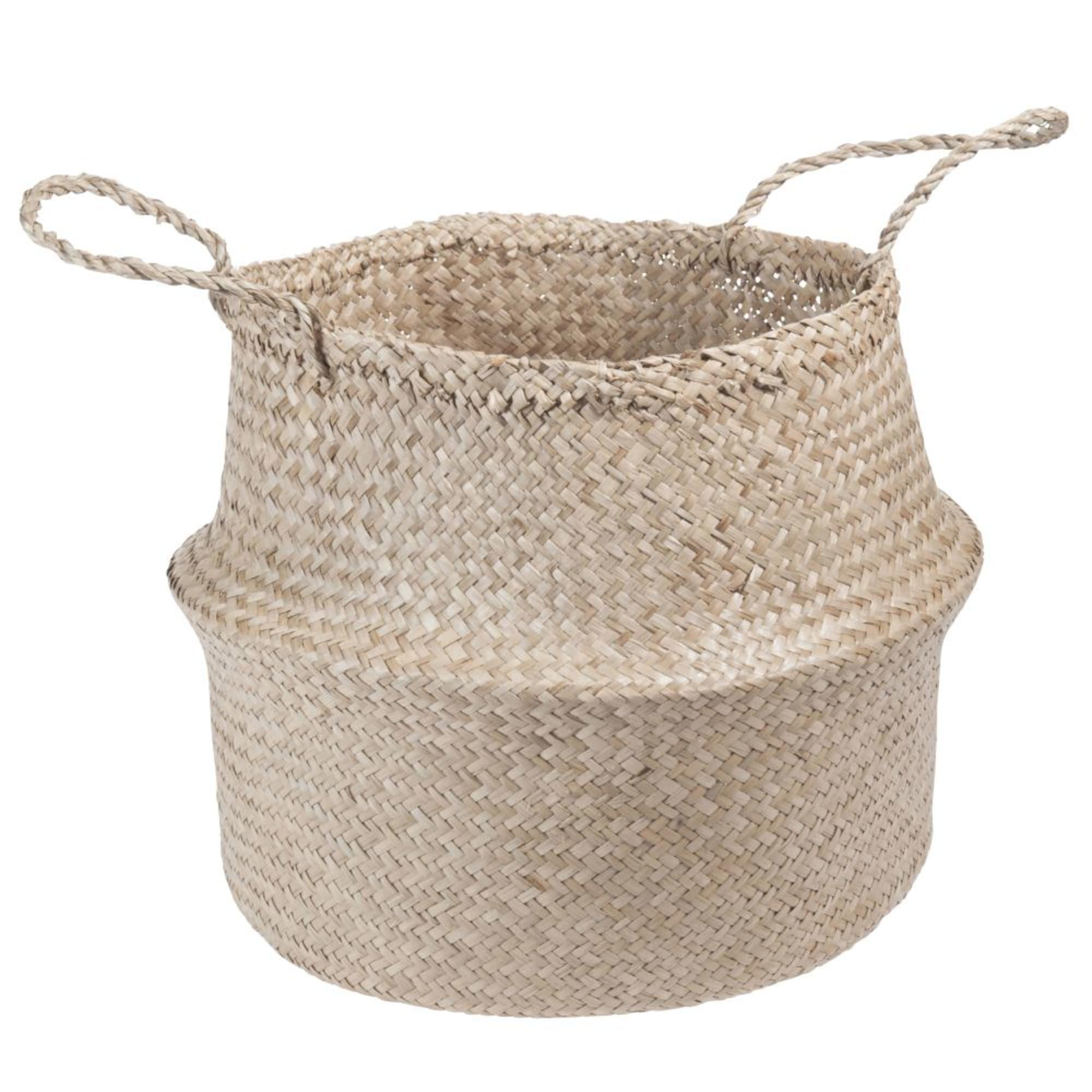 Cesta tailandesa de fibra vegetal Al.40 cm