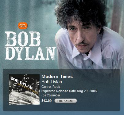 Modern Times, lo último de Bob Dylan, en iTunes