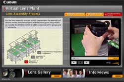 Virtual Lens, Canon muestra el proceso de construcción de sus lentes