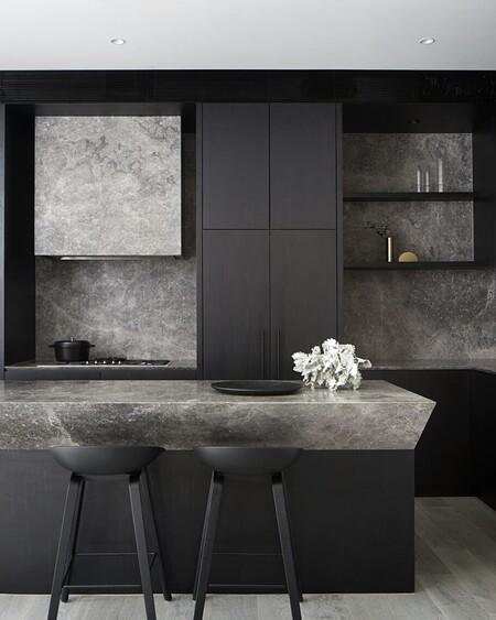 Inspiración en la cocina; las cocinas mas impactantes se visten de negro