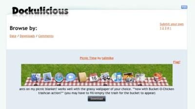 Dockulicious, directorio comunitario de temas para el dock de Mac OS X
