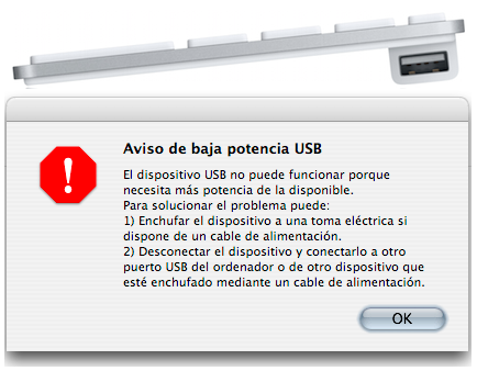 Problemas con los puertos USB del nuevo teclado de Apple