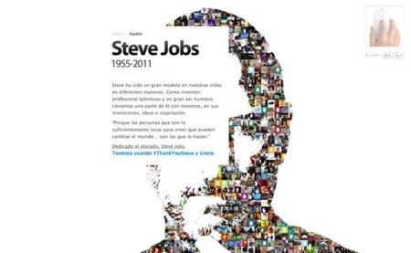 Steve Jobs memorial twitter