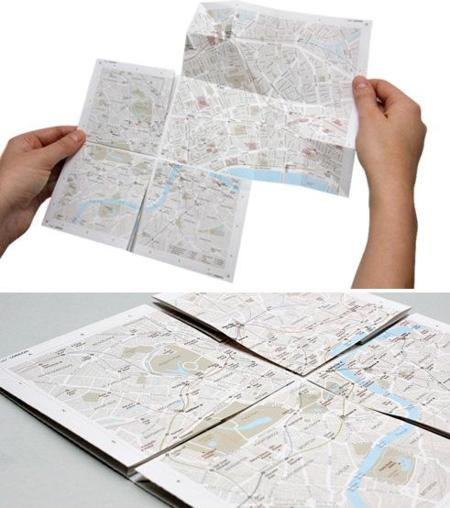 Zoomable Paper Map, mapa de papel con zoom