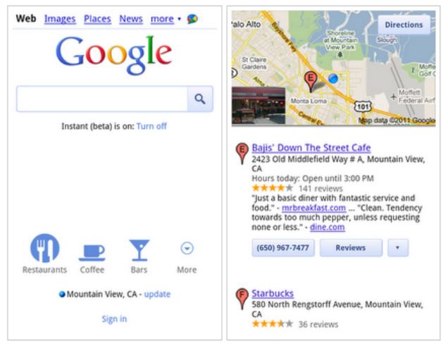 Google introduce novedades en las búsquedas móviles