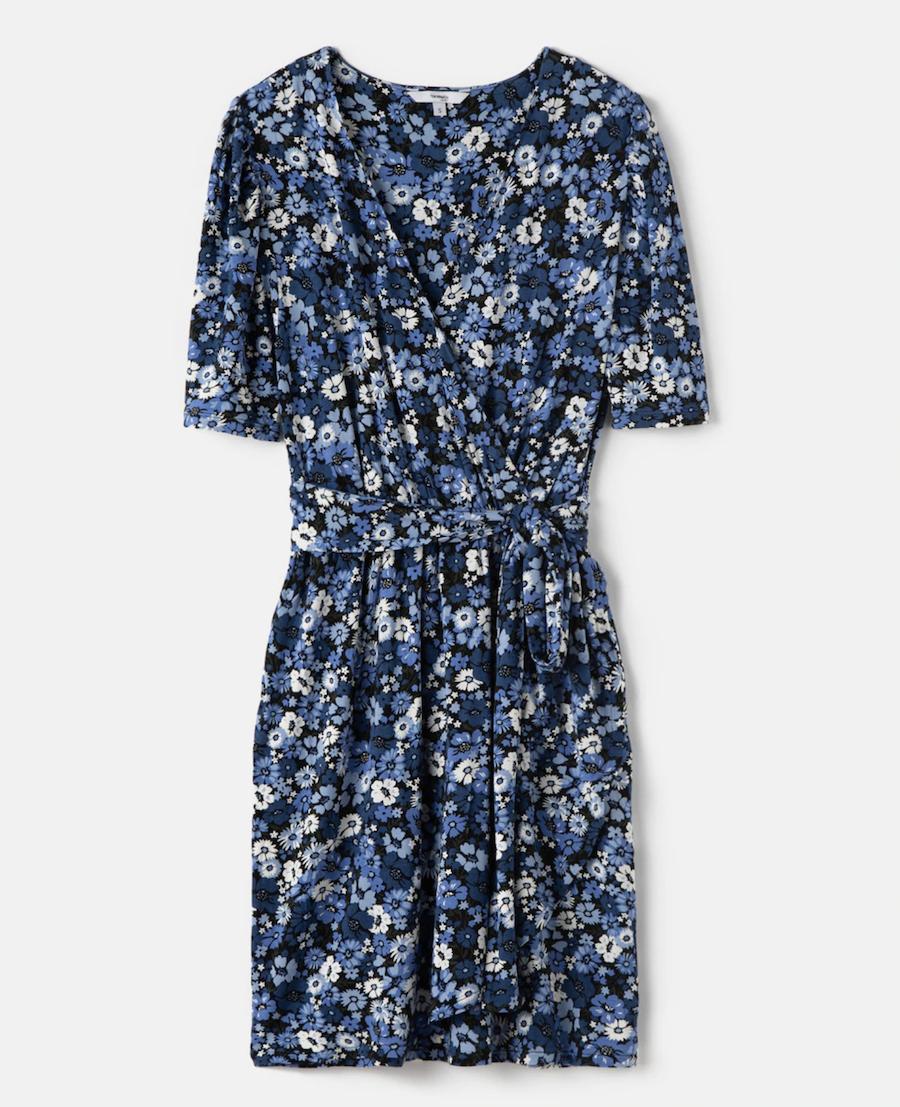 Vestido cruzado de flores