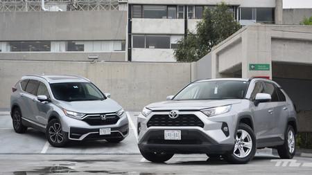 Honda CR-V vs. Toyota RAV4, comparativa: Dos C-SUV muy interesantes, ¿cuál conviene más en México?