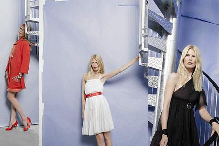Claudia Schiffer con la colección Cruise 2007-2008 de Chanel