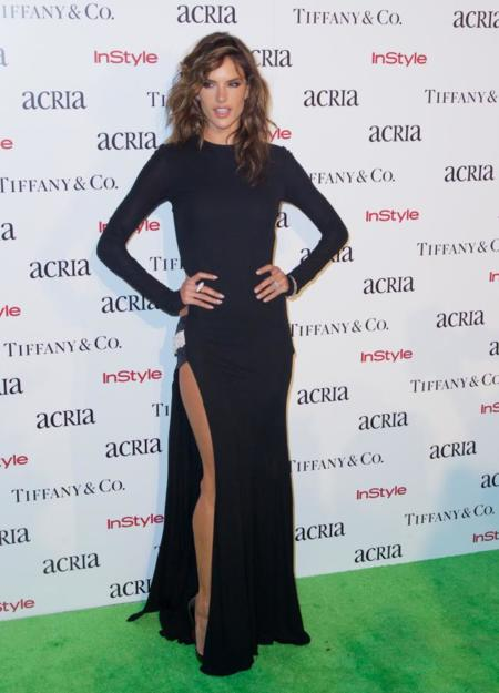 Acria Holiday Dinner 2014 Alessandra Ambrosio Kim Kardashian