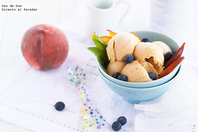 Receta de helado de melocotón