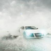 El fotógrafo que nos hace dudar si este Audi R8 es de verdad o es de juguete