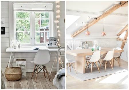 Pack de 4 sillas de estilo nórdico por sólo 54,99 euros (13,75 euros/unidad) y envío gratis