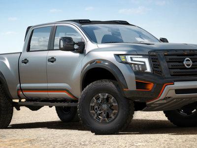 Una bestia llamada Nissan Titan Warrior Concept aporrea la puerta de Ford en Detroit