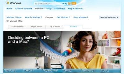 Microsoft abre una sección en su web comparando PC y Mac