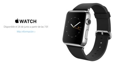 Confirmada la hora del lanzamiento del Apple Watch en España y México