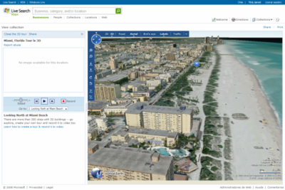 Virtual Earth y Live Search Maps reciben una importante actualización
