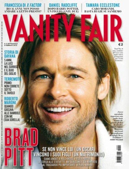 Brad Pitt hace gala de sus patas de gallo en la portada de 'Vanity Fair'