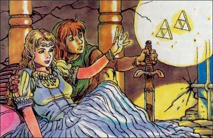 Artwork perdido de 'The Legend of Zelda'