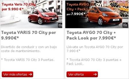 Oferta Toyota Yaris y Toyota Aygo