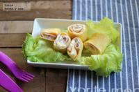 Tortillas enrolladas de jamón y queso. Receta