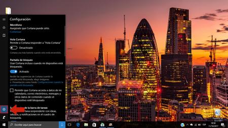 Desactivando Cortana