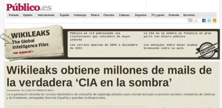 El diario Público, más vivo que nunca, recuerda el sabotaje y chantaje a WikiLeaks