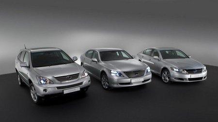 Lexus RX 400h, GS 450h y LS 600h
