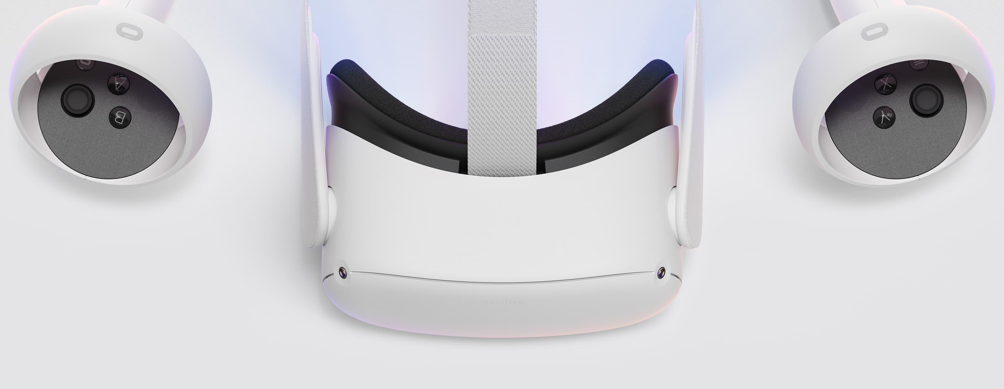 Gafas de realidad virtual - Facebook Oculus Quest2, 64 GB, Vídeo 360º, Blanco