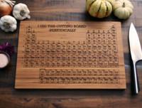 Unas tablas para cortar muy científicas