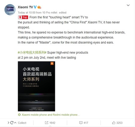 Xiaomi To Launch Oled Master Tv Series In China On 2nd July 2
