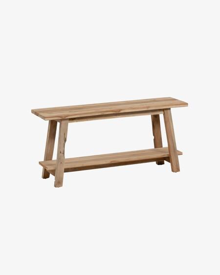 Banco Safara de madera maciza de teca 100 cm