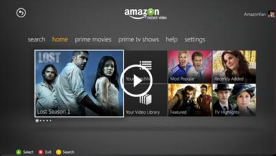 """Amazon """"mete"""" su servicio de streaming de vídeo en la Xbox 360"""