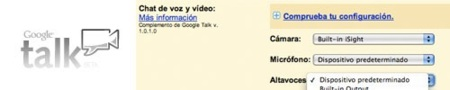Gmail audio y video chat