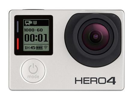 GoPro HERO4 con pantalla táctil o grabación 4K a 30 imágenes por segundo