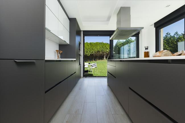 cocina abierta al jardín